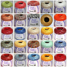 Aunt Lydias classic crochet thread size 10-colors you selet bellow