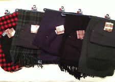 NWT Men's Chaps Two (2) Piece Scarf Gift Set with Beanie Various Colors Avail.
