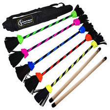 """Flash"" Flower Stick Set with Silicone Hand Sticks! Flower Devil Sticks Juggling"