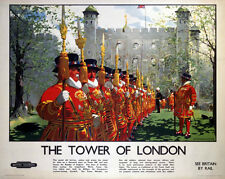 TOWER OF LONDON (2) VINTAGE STYLE PRINT ON WOOD OR FRAMED OR MOUNTED PAPER PRINT