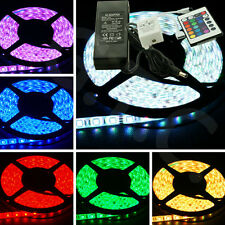 5050 IP65 Waterproof RGB 5M 300 LED Strip + power 12V 5A + 24 KEY Controller