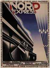 NORD EXPRESS- Berlin, Brussels, London, Paris - Trains Art on Canvas