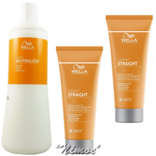 STRAIGHTEN IT KIT WELLA ® CREMA STIRANTE 200ml + NEUTRALIZZANTE 1Lt x RICCI NAT.