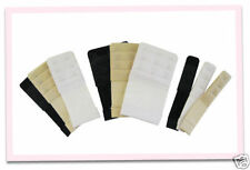 BRA EXTENDERS set of 3 white-black-nude