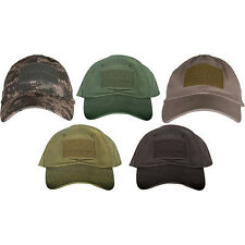 TACTICAL COTTON VELCRO PANEL OPERATOR BALL CAPS - One Size Fits Most