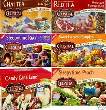 CELESTIAL SEASONINGS HERBAL CHAI RED ROOIBOS & HOLIDAY TEA BAGS ~ PICK ONE