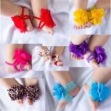 Top Baby Cute Flower Infant Girl feet Toddler Barefoot Blooms Sandals Shoes