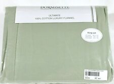 THE BEST Dormisette HvyWt German Flannel Sheet Set Queen Cal King Solid Sg Green