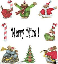 Merry Mice Scrapbooking Embellishments Christmas Winter  Holiday Candy canes