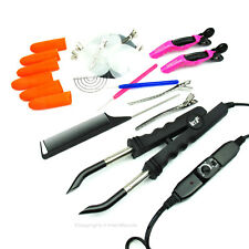 NEW FLAT PLATE Hot Fusion Hair Extensions Keratin Bonding Tools Heat Iron Wand