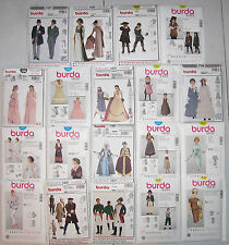 Burda Adult Kids Bustle Renaissance Pirate /Downton Abbey Edwardian Patterns