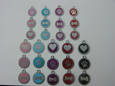 Stainless Steel Metal Pet dog id Tag Various Colours Designs & Sizes By Melian