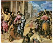 The Miracle of Christ Healing the Blind, EL GRECO  - Life of JESUS in Art
