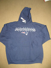 NEW ENGLAND PATRIOTS blue SWEATSHIRT hoody MADE BY NFL Apparel L XL NWT