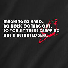 laughing so hard, no noise coming out, so you sit there clap retro Funny T-Shirt