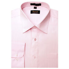 New Amanti Mens Solid  Light  Pink Wedding Formal Dress Shirt