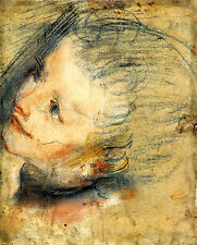 Study for the head of Jesus Christ  - Life of JESUS CHRIST in Art on Canvas