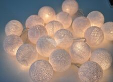 20 , 35 COTTON BALL STRING PARTY,PATIO,FAIRY,DECOR,CHRISTMAS,WEDDING LIGHTS
