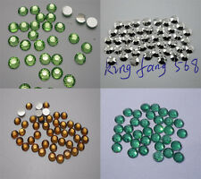 Lots colors 5000pcs Multiple facets Resin 4/5mm Flat Back Rhinestones SS16/20 04