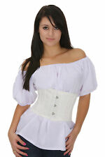 Ivory Small Mini Steel Boned Bridal Corset Tight Lacing Waist Training Cincher