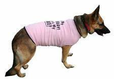 Dog T-Shirt Big Dog Tee Tank HAPPY BIRTHDAY Ribbed Cotton Fashion Fun BIG GIRLS