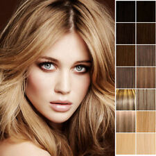 MNX Clip In Remy Human Hair Extensions Full Head : Many Colours Available