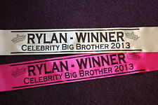 TOP QUALITY PERSONALISED PARTY SASH - ANY OCCASION - HEN, BIRTHDAY, PAGEANT
