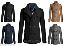 Top Mens Man Black Beige Blue d.g Star Double Breasted Wool Trench Coat Jacket