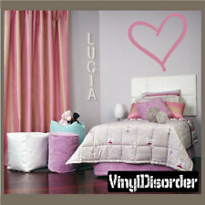 Heart outlined Valentine's Day Holiday Vinyl Wall Decal Mural Quotes CP041