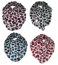 Long Scarf Shawl Necktie Stola Owl Red Turquoise Blue White  New Colours