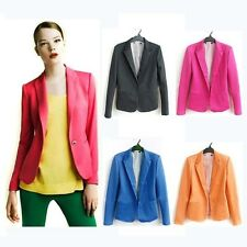 Zara Candy Colour Boyfriend Style Stripe Lining Rollup Tailored Blazer