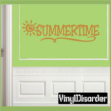 Summertime Summer Holiday Vinyl Wall Decal Mural Quotes Words HD014