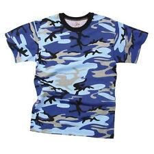 Mens Camouflage T-Shirt, Electric Blue Camo by Rothco