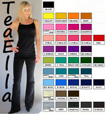 New QUALITY Slimming MID-RISE Rollover Bootleg Yoga Comfy Pants S M L pick color