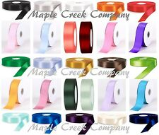 "100yds Single Face Satin Ribbon 5/8"" x 100yd ANY COLOR ~ Great Quality & Price!"
