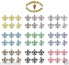 POLKADOT 1inch FLEUR DE LIS IRON-ON CUSTOMIZE FANCY PARTY TSHIRT TRANSFER PATCH