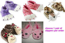 * NWT NEW GIRLS PAWS Leopards Monkeys SLIPPERS 9 10 11 12 13 1