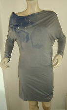 NEW GREY BATWING SLEEVE STRETCH DRESS BY ROCK & REVIVAL SIZES 12,14,16 & 18