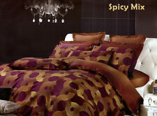 Luxury Duvet Cover Set Modern Design Bedding, Spicy Mix Dolce Mela DM451Q-DM451K