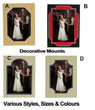 DECORATIVE DOUBLE PHOTO/PICTURE MOUNTS - large selection of colours and sizes!