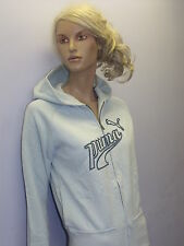 Ladies Puma Hoodie Gym Running Jacket Casual Tracksuit Top in Blue Colour
