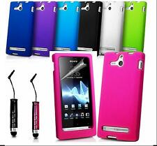 SILICONE RUBBER JELLY CASE COVER FOR SONY XPERIA SERIES PLUS SCREEN PROTECTOR