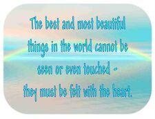 Custom Made T Shirt Best Beautiful Things World Cannot Be Seen Felt With Heart