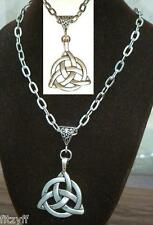 "20"" 24 Inch Necklace & Celtic Knot Trinity Charm Pendant Triquetra Celt Gift New"