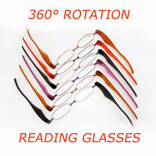 360° Rotation Folding Portable Stainless Steel PC Reading Glasses +1 +1.5 +2 +3