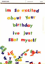 Adult Rude Fun Funny Offensive Humour Birthday Greeting Card Blank Own Message
