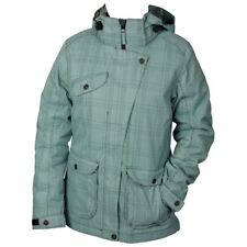 White Rock Cube Womens Jacket - Ladies Warm Winter Ski Snow Coat Turquoise