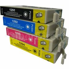 4 CiberDirect Replacements for Epson T1295 Printer Ink Cartridges - VAT Invoice