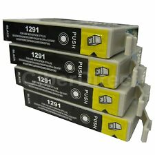 4 Generic Replacements for Epson T1291 Printer Ink Cartridges. UK VAT Invoice.