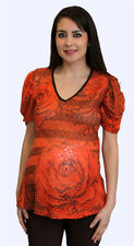 Cute orange floral maternity top (Free Shipping)